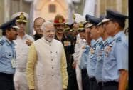 Prime Minister Narendra Modi meets commanders at the Annual Combined Commanders Conference of the Armed Forces