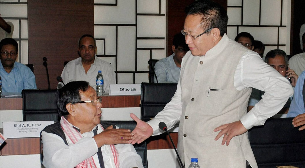 Purno A Sangma, MP, former, Lok Sabha speaker, Nagaland, Chief Minister, T. R. Zeliang, Conference, Chief Ministers, North-Eastern States, Khanapar