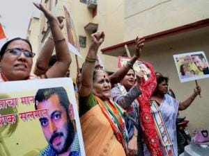 Congress protest against Salman Khan