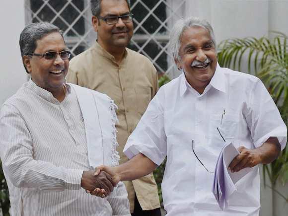 Karnataka Chief Minister, Siddharamaiah, Kerala Chief Minister, Oommen Chandy, , Congress, Congress Chief Minister, Chief Ministers Conference, New Delhi