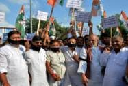 Congress protests against suspension of 25MPs