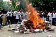 Congress Worker protests of BJP in Delhi