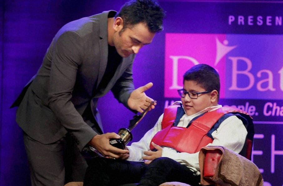Cricketer M S Dhoni, Positive Health Award, World's Youngest Disabled Patent Holder, Hridayeshwar Singh Bhati