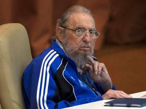 Fidel Castro attends the last day of the 7th Cuban Communist Party Congress in Havana on April 19 2016