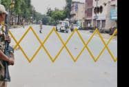 A view of a street during curfew in Saharanpur