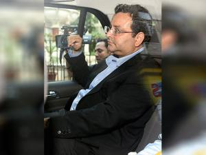 Cyrus Mistry outside his office