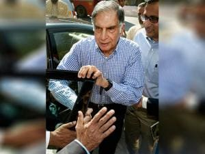 Tata Sons interim Chairman Ratan Tata arrives for the India Hotels Company Ltd. EGM