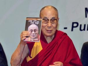 Tibetan spiritual leader Dalai Lama releasing Assamese translation his autobiography 'My Land and My People'