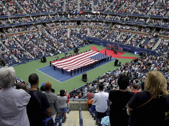American flag, US Open Final