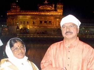 Chief Justice of India H L Dattu with his wife G Ayathri Dattu