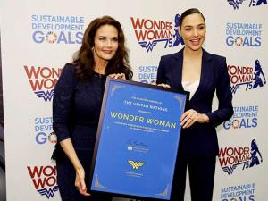 Lynda Carter and Gal Gadot as an Honorary Ambassador For the Empowerment of Women and girls