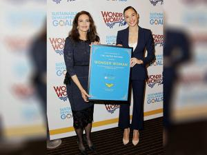 Lynda Carter and Gal Gadot as an Honorary Ambassador UN