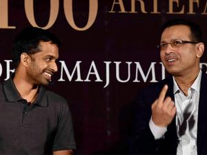 Badminton coach Pullela Gopichand and industrialist Sanjiv Goenka