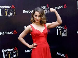 Kangana Ranaut, Brand Ambassad of Reebok India awards for the first edition of Fit To Fight  Awards
