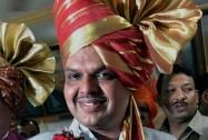 Devendra Fadnavis after being announced as  the new Maharashtra Chief Minister by Home Minister Rajnath Singh