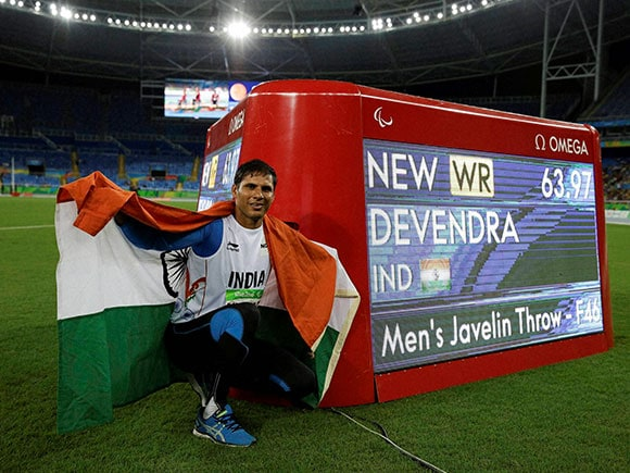 Devendra Jhajharia, Rio, World Record, Rio Paralympics 2016, Paralympics, World Record
