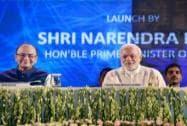Narendra Modi, Arun Jaitley and Ravishankar Prasad