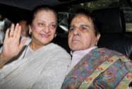 Bollywood actor Dilip Kumar with his wife actress Saira Banu