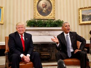 Barack Obama meets with President-elect Donald Trump
