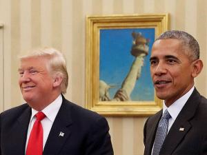 President Barack Obama with President-elect Donald Trump