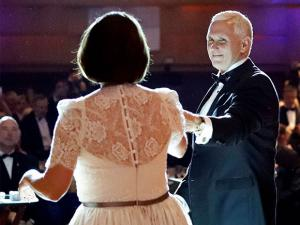 Vice president-elect Mike Pence and his wife Karen Pence dance at the Indiana Inaugural Ball