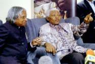 Former president APJ Abdul Kalam with Nelson Mandela