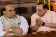Rajnath Singh and BJP  leader Subramanian Swamy