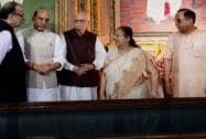 Sumitra Mahajan, Rajnath Singh, Arun Jaitley, L K Advani, Subramanian Swamy