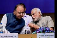 Prime Minister Narendra Modi with Defence and Finance Minister Arun Jaitley