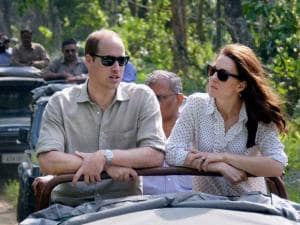 Prince William, Duke of Cambridge and his wife Catherine (Kate), Duchess of Cambridge enjoying jeep safari in Kaziranga National_Park ,Assam