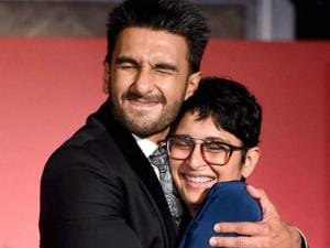 Ranveer Singh and filmmaker Kiran Rao during an MoU signing ceremony