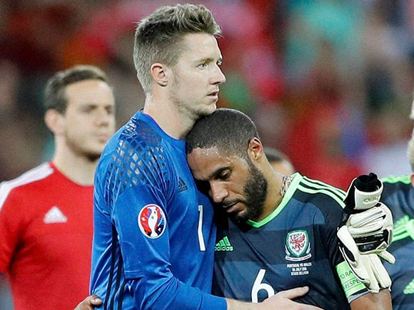 Wayne Hennessey, Ashley Williams, Euro 2016, Portugal vs Wales