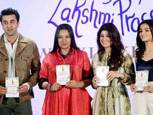 Ranbir Kapoor, Shabana Azmi, Twinkle Khanna and Alia Bhatt at the book launch