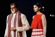 Amitabh Bachchan along with daughter Shweta Nanda