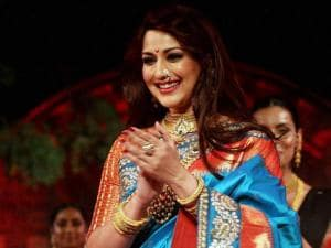 Sonali Bendre at a fashion show during Make in India event in Mumbai