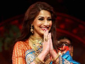 Sonali Bendre at a fashion_show during Make in India event in Mumbai