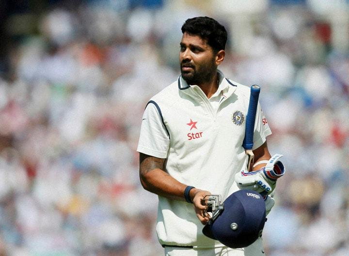 India's, Murali Vijay, looks, large video screen, lost wicket