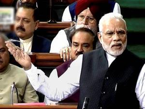 Narendra Modi speaks in Lok Sabha