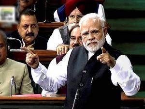 Prime Minister Narendra Modi speaks in Lok Sabha