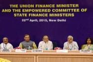 Union Finance Minister Arun Jaitley and MoS Finance Jayant Sinha interacts with state finance ministers