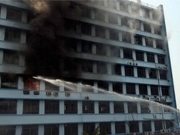 New Secretariat building, Kolkata, Fire, Fire Brigade