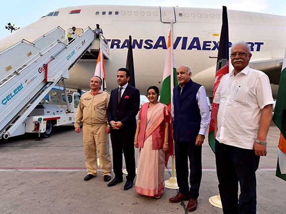 India-Afghanistan air corridor project, Sushma Swaraj,  External Affairs Minister, Hamid Karzai International Airport, Trade