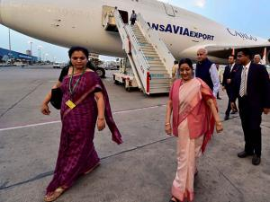 External Affairs Minister Sushma Swaraj and Minister of State MJ Akbar
