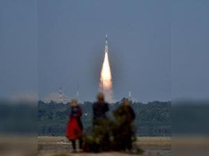 ISRO's  GSLV-F05 carrying INSAT-3DR takes off from Satish Dhawan Space Centre
