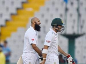 Hashim Amla and D Elgar
