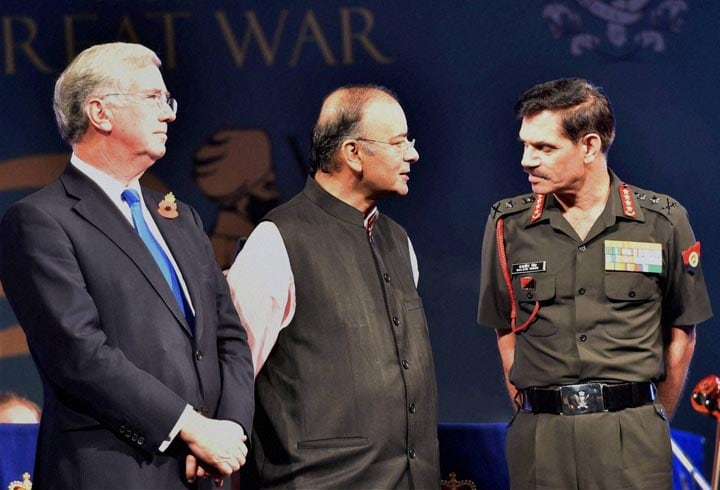 Defence Minister, Arun Jaitley, Army Chief General, Dalbir Singh Suhag, 'First World War Centenary Commemoration' in New Delhi