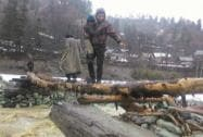 Army personnel recuing people in a flood-hit area in Shopian