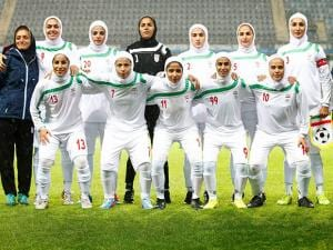 Iran's team line up for a group photo