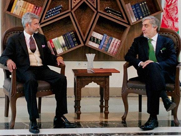 Foreign Secretary,  Jaishankar,  Afghan Chief Executive, Abdullah Abdullah, President of Afghanistan, Ashraf Ghani