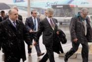 Foreign Secretary S. Jaishankar is welcomed by officials on his arrival in Kabul